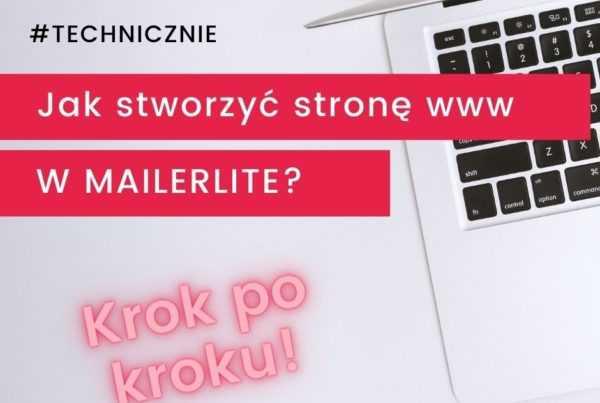 Jak stworzyć stronę www wMailerLite?